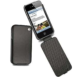 Coque cuir Apple iPhone 4 - Perpétuelle - Noir