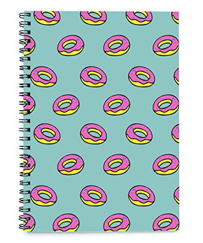 Donuts patterned spiralbindung notizbuch 50 blatt (A5)