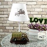 HRMAOI®,Spielzeug, Kindernachttischlampe, moderne Mode, Stil Militärlastwagen, Kreativität, verziert Schlafzimmerlampe, 37CM
