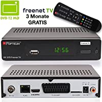 Opticum AX 570 Freenet TV digitaler DVB-T2 Receiver DVB-T H.265 in schwarz