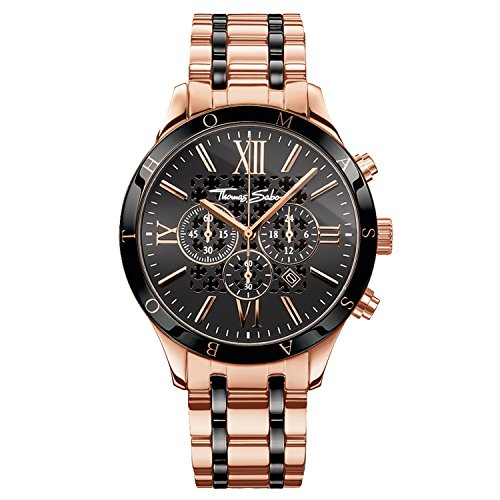 Thomas Sabo Men's Watch Rebel Urban Rose Gold Black Analogue Quartz