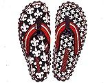 Beachers -Damen- Fleur de France - Zehentrenner / Sandale - schwarz / weiß / rot (36)