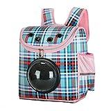 Haustier-Tasche Aus Der Durchführung Der Tasche Rucksack Doppel Schulter Doggy Bag Atmungsaktiv Raumkapazität 7,5 Kg (rosa)
