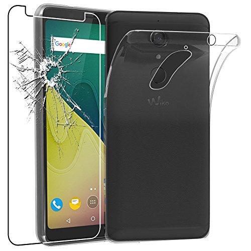 ebestStar - Wiko View XL Hülle [Phone: 158.1 x 76.5 x 8.2mm, 6.0''] Handyhülle [Ultra Dünn], Durchsichtige Silikon Schutzhülle, Transparent + Panzerglas Schutzfolie [Lesen Sie die Beschreibung]