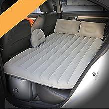 HAOXIAOZI Cama Inflable SUV Coche Flocking Sleeping Mat Asiento Trasero Cama De Viaje,Gray