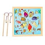 forepin Angelspiel Magnet Spielzeug Kinderspiel Holzpuzzles Fische Angeln Hubtabelle Spiel Magnetisches Puzzle Spiel Holz Für Educational Gifts