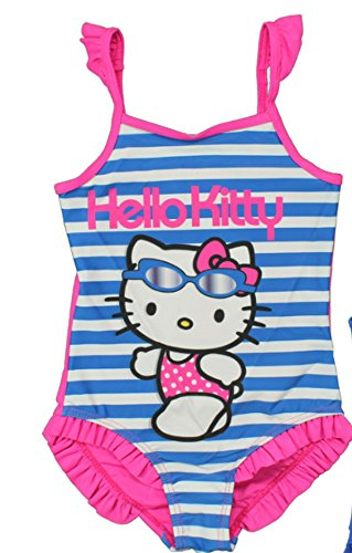 Hello kitty - costume da bagno, in 2 colori - 128-134 - blu/rosa