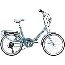 Bicicletta pieghevole Bologna Hi-Tension 20 Cicli Cinzia (Azzurro)