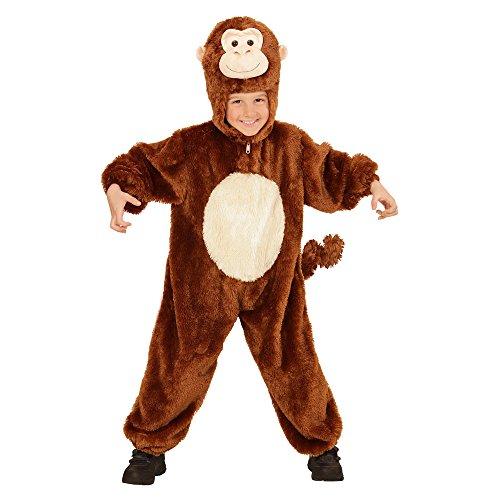 Affe Kleinkind Plüsch Kostüm - Widmann - Kinderkostüm Affe aus Plüsch, Overall mit Maske