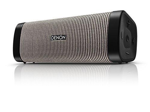 Denon DSB-250BT Negro, Gris - Altavoces portátiles (4 cm, Inalámbrico, Bluetooth/3.5 mm,...