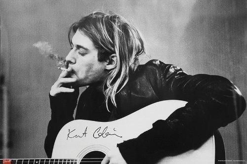 """Póster de Nirvana - Kurt Cobain """"Smoking & Guitar/Cigarro y Guitarra"""" (91,5cm x 61cm)"""