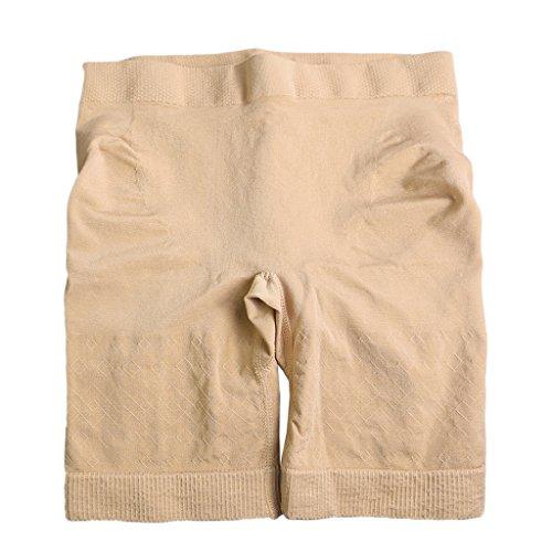 Butt Lifter Shaper Taille und Oberschenkel Shaper Erweiterer Boyshorts Unterwäsche Apricot