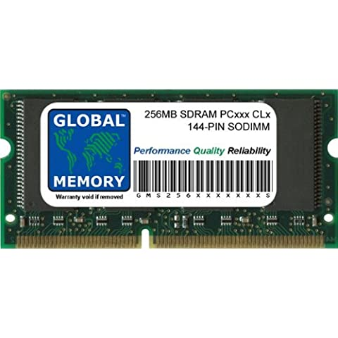 256MB PC100/133 144-PIN SDRAM SODIMM MEMORIA RAM PARA ORDENADOR PORTÁTILES/NOTEBOOKS