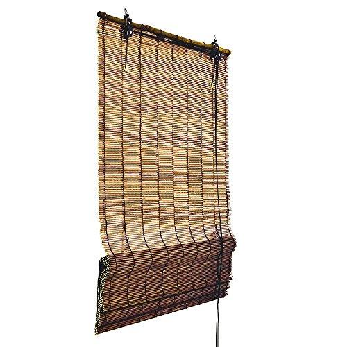 Bambus Raffrollo 160 cm lang in verschiedenen Breiten und Farben – Fenster Sichtschutz Rollos von Sol Royal TOP QUALITÄT