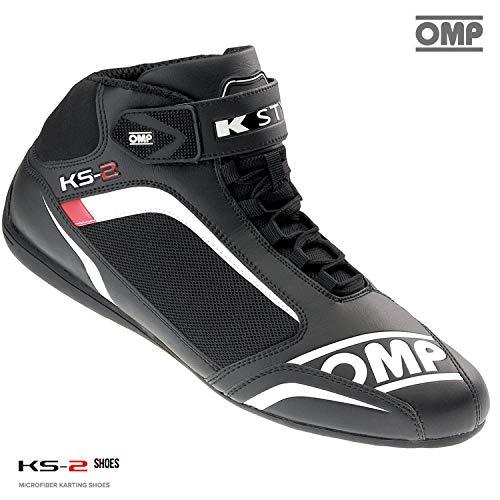 Omp Racing Schuhe (IC/812OMP KS-2Karting-Stiefel aus Mikrofaser-Stoff, Herren Damen, schwarz, 43 (UK 9))