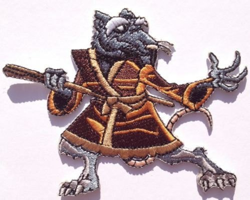 TMNT splinter patch iron master on teenage mutant ninja turtles patch