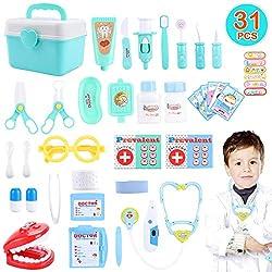 joylink Arzt Spielzeug, 31 Teile Arztkoffer Medizinisches Spielzeug Kinder Dentist Doktor Set Medizinische Kit Lernspielzeug Kinder Rollenspiele Geschenke für Mädchen und Jungen
