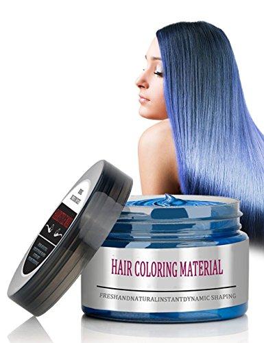Haar Cream, BMK Haarwachs Unisex DIY Haarformung Silbergraue Cream, Frische und Natürliche Frisur Wax Stylingcreme geeignet für den täglichen Gebrauch, Partys 120g (Blau)