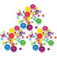 MagiDeal Paquete de 126 Piezas Trivial Pursuit Game Pieces Pie Wedges para Enseñanza de Matemáticas Fracción