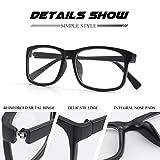 CGID CN12 Brille Extra Schmaler Rahmen! Slim Rechteck Nerd Clear Brille,Matte Schwarz für CGID CN12 Brille Extra Schmaler Rahmen! Slim Rechteck Nerd Clear Brille,Matte Schwarz