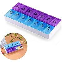 FORNORM Pillendose für 7 Tage 14 Fächer, Medikamentendosierer Tablettenbox Medizinbox Pillenbox Woche, MoistureProof... preisvergleich bei billige-tabletten.eu