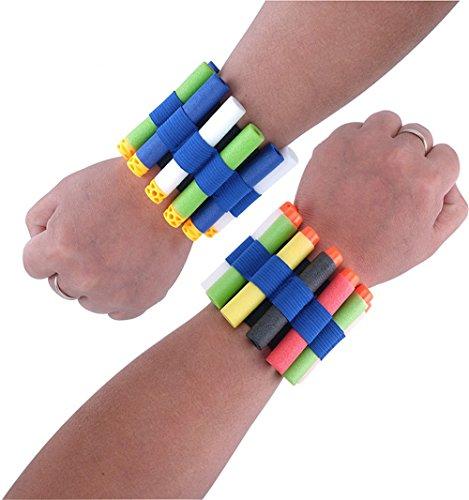 JIUZHOU Armband für Nerf N-Strike Elite-Reihe mit Schnellspann-Clips, Schaumstoff-Armband