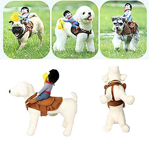 Zaote Haustier Hund Katze Halloween Kostüm Lustige Hund Cowboy Rider Kleidung Haustier Fancy Dress (Halloween Kostüme Cowboy)