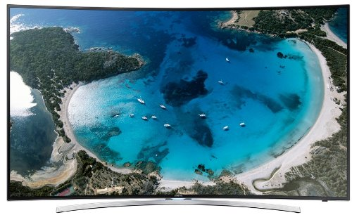 Samsung UE55H8090 138cm (55 Zoll) 3D-LED-Backlight-Fernseher (Curved-TV, Full HD, 1000Hz CMR, WLAN, Smart-TV, 2x DVB-T/-C/S2, Quad Core+, Micro Dimming) (Samsung Smart Tv 3d 55)