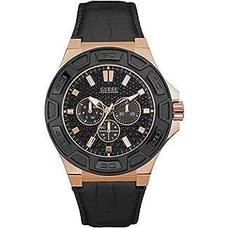 Guess Reloj Cronógrafo para Hombre de Cuarzo con Correa en Cuero W0674G6