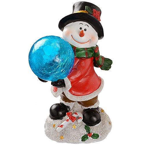 WeRChristmas - Muñeco de nieve con bola de hielo y decoración navideña...