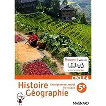 Histoire géographie, enseignement moral et civique 5e - Nouveau programme 2016
