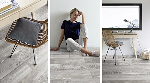 Gerflor PRIMETEX - Versailles Light Blue 2008 PVC Boden Linoleum Rolle Fußbodenbelag, CV Belag - Holzdekore - Breite 4m