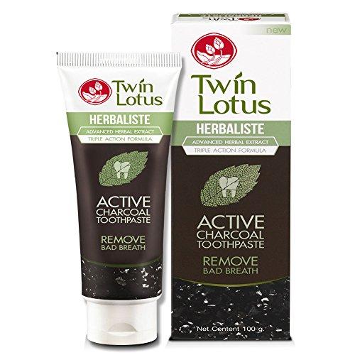 Original Twin Lotus Aktiv Kohle Whitening Zahnpasta 100g