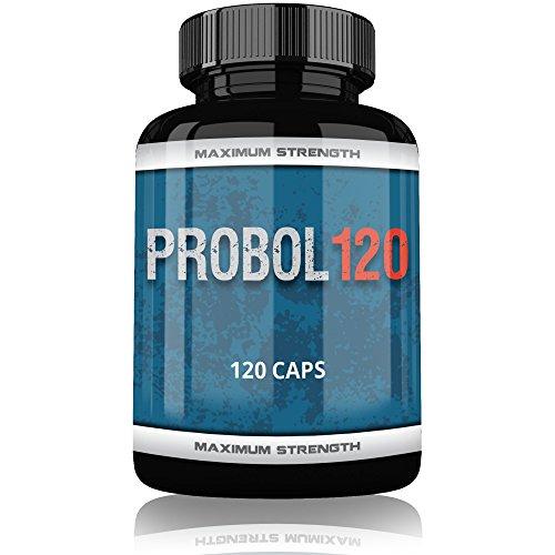 Probol Testo Booster Extreme | 120 Kapseln für Muskelaufbau Phase | Tribulus Terrestris Creatine Monohydrat Beta Ecdysterone Avena Sativa | Männer | Komplex Made in Germany