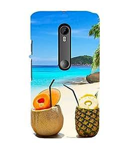 Fiobs Designer Back Case Cover for Motorola Moto G Turbo Edition :: Virat FanBox Moto G Turbo Virat Kohli (Coconut Pineapple Beach Sea Trees Friends)