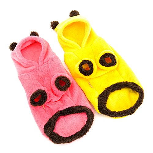 Tutoy Hoopet Coral Fleece Haustier Hund Katze Mantel Overall Warm Komfortable Haustier Stoff (Reptil Kostüm Haut)