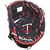 "Wilson A200 10"" Minnesota Twins Glove Right Hand Throw, Navy/Red/White"