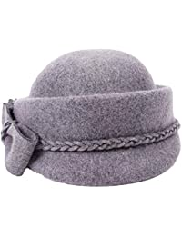 Sombrero De Mujer Otoño E Invierno Sombrero De Fieltro De Lana Elegante Moda  Boina Ocio Estilo f024c539bbea