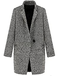 e322dca7066 Nonbrand Womens Winter Wool Trench Coat Ladies Outerwear Vintage Overcoat Long  Jacket
