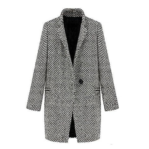 Nonbrand Damen Trenchcoat Mantel Gr. 38, Mehrfarbig - Black-and-White