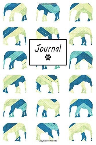 Journal: Elephant Pattern - Blank Lined Journal (Composition Book, Notebook) por Petly Books