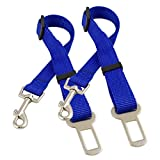 Lantelme 2 Stück Set Hundegurtadapter blau 5589 . Auto Hunde Sicherheitsgurt...