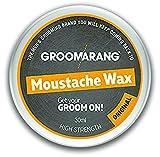 Groomarang bigote y barba cera Original Extra fuerte 100% cabello Natural cuidado orgánicos y veganos 30ml
