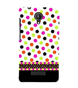 Wall Art Fashion Dots Girly 3D Hard Polycarbonate Designer Back Case Cover for Micromax Canvas Spark Q380