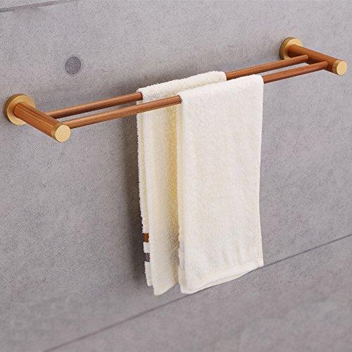 MiYan Badregal aus Bambus, Wandmontage, 2-lagig, Handtuchhalter (Stehend Outdoor-handtuchhalter)