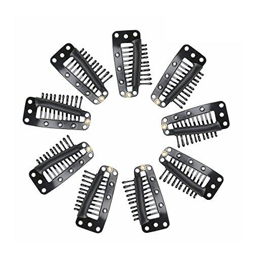 Tinksky Parrucca clip clip automatici con goa 10 denti Snap pettine per capelli estensione