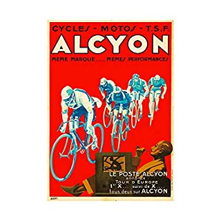 AD TRANSPORT ALCYON CYCLES EVENT TOUR EUROPE FRANCE FRAMED ART PRINT B12X6906