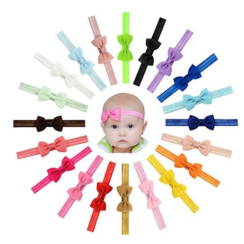 20 Stück Baby Mädchen Haar Bogen Haar Bands Elastische Stirnbänder mit 2.7