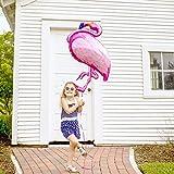 SPECOOL Hawaiian Tropical Dekoration, 52PC Beach Party Supplies mit bunten Ananas Flamingo Ballons Palm Simulation verlässt Banner Papier Pom Poms für Luau Party Dschungel Sommer Tischdekorationen - 5