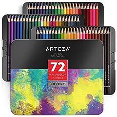 Idea Regalo - ARTEZA Matite Colorate Acquerellabili, Set da 72 Pezzi Multicolore, Scatola in Latta, Matite da Disegno Professionali, Ideali per Sfumare e Stratificare, per Principianti ed Esperti